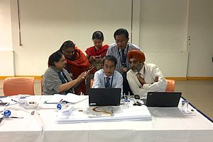 Team-based learning - Medical professionals at a TBL workshop. Photo by InteDashboard™
