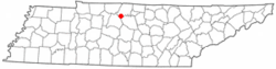 Location of Hendersonville, Tennessee