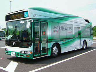 Fuel cell bus - Image: TOYOTA FCHV Bus