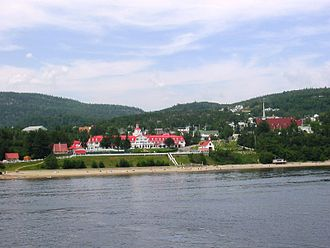 Tadoussac - Tadoussac as seen from the St. Lawrence