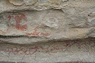 History of the Otago Region - Takiroa Rock Art Site near Dunroon, Waitaki Valley, South Island