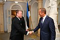 Tallinn Digital Summit. Welcome dinner hosted by HE Donald Tusk. Handshake (36708479533).jpg