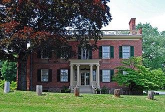 Ten Broeck Mansion - Front elevation, 2009