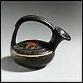 Terracotta askos (flask with a spout and handle over the top) MET DP1233.jpg