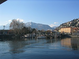 Locarno - Harbor of Locarno. Trade along the lake allowed Locarno to flourish