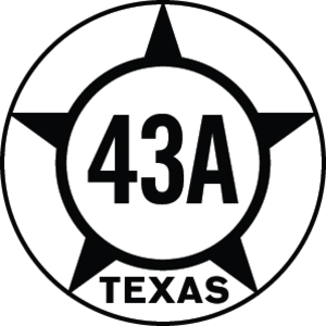 Texas State Highway 43 - Image: Texas Hist SH43A