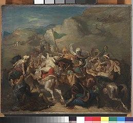 Battle of Arab Horsemen Around a Standard