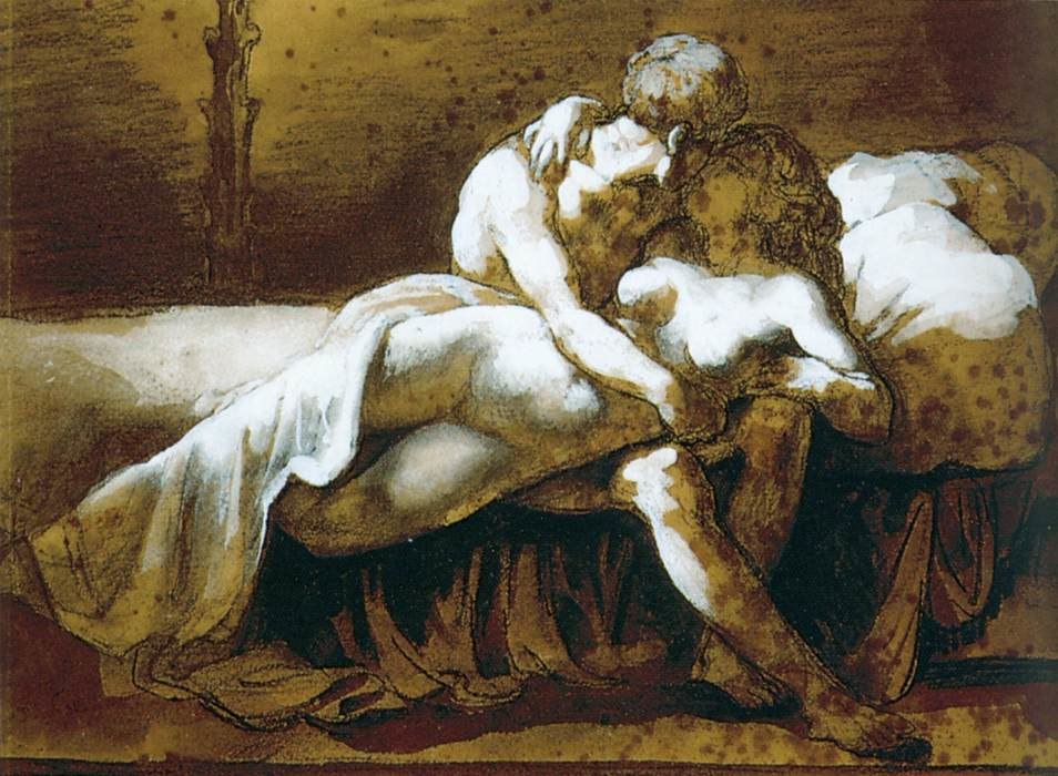 Théodore Géricault - The Kiss - WGA08647