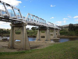 Tharwa Bridge - Tharwa Bridge is an Allan truss bridge over the Murrumbidgee River (looking North)