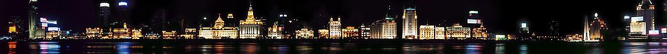 Panoramic view of the Bund