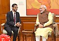 The CEO of Google, Mr. Sundar Pichai calls on the Prime Minister, Shri Narendra Modi, in New Delhi on December 17, 2015 (1).jpg