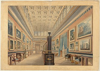 Henry Thomas Hope - The Flemish Picture Gallery, Henry Thomas Hope's home Duchess Street, by R.W. Billings