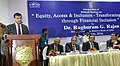 The Governor of Reserve Bank of India, Dr. Raghuram G. Rajan addressing at the National Seminar on Equity, Access and Inclusion, organised by the National Institute of Rural Development and Panchayat Raj, in Hyderabad.jpg