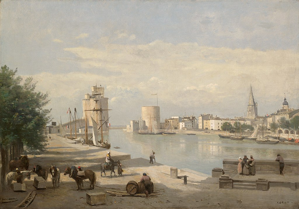 file the harbor of la rochelle by jean baptiste camille wikimedia commons. Black Bedroom Furniture Sets. Home Design Ideas