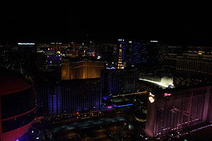 High Roller (Ferris wheel) - Image: The High Roller View of the Strip