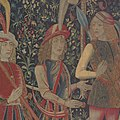 The Hunters Enter the Woods (from the Unicorn Tapestries) MET DP100989.jpg