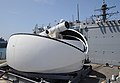The Laser Weapon System (LaWS) is temporarily installed aboard USS Dewey. (8634865121).jpg