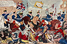Caricature of the yeomanry at the Peterloo Massacre