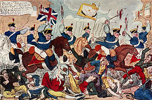 Peterloo Massacre - Image: The Massacre of Peterloo