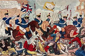 Peterloo Massacre - Image: The Massacre of Peterloo
