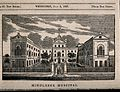 The Middlesex Hospital; seen from the south. Wood engraving, Wellcome V0013606.jpg