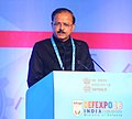 The Minister of State for Defence, Dr. Subhash Ramrao Bhamre addressing at the inauguration ceremony of the DefExpo India-2018, at Mahabalipuram, Tamil Nadu on April 12, 2018.jpg