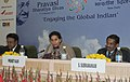 """The Minister of State for External Affairs, Smt. Preneet Kaur chairing the Session – B """"Strengthening Cultural bonds with the Global Indian, during the 9th Pravasi Bharatiya Divas-2011, in New Delhi on January 08, 2011.jpg"""