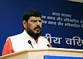 The Minister of State for Social Justice & Empowerment, Shri Ramdas Athawale addressing at the meeting of the National Council of Senior Citizens, in New Delhi on August 30, 2016.jpg
