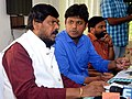 The Minister of State for Social Justice & Empowerment, Shri Ramdas Athawale chairing a meeting to review the flood situation and disaster management, at Kalamassery, Ernakulam, in Kochi on August 24, 2018.JPG
