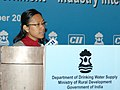 The Ministers of State for Rural Development, Ms. Agatha Sangma addressing at the inauguration of the National Seminar on Government- Industry Interface for Drinking Water Security, in New Delhi on November 21, 2009.jpg