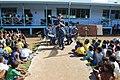 The Pacific Fleet Band entertains children in Savusavu, Fiji, during Pacific Partnership 2015 150612-N-HE318-053.jpg