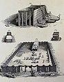 The Phillip Medhurst Picture Torah 493. Raising the tabernacle. Exodus cap 40 vv 17-33. Calmet.jpg