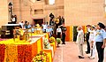 The President, Shri Ram Nath Kovind paying homage at the Amar Jawan Jyoti, India Gate, on the occasion of 71st Independence Day, in New Delhi.jpg