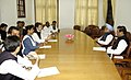 The Prime Minister, Dr. Manmohan Singh with a delegation of MPs led by Shri Rahul Gandhi in New Delhi on February 28, 2008.jpg