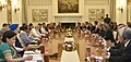 The Prime Minister, Shri Narendra Modi and the Prime Minister of Malaysia, Dato' Sri Mohd Najib Bin Tun Abdul Razak, at the delegation level talks, at Hyderabad House, in New Delhi on April 01, 2017 (2).jpg