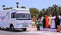 The Prime Minister, Shri Narendra Modi flagging off 'Kalam Sandesh Vahini', an exhibition bus, at Pei Karumbu, Rameswaram, in Tamil Nadu.jpg