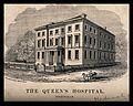 The Queens hospital, Birmingham. Wood engraving by A. Allen Wellcome V0012230.jpg