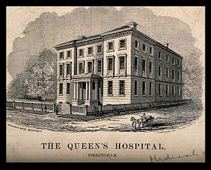 Birmingham Accident Hospital - Queen's Hospital as built