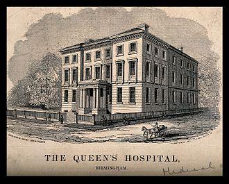Birmingham Accident Hospital - Queen's Hospital as built