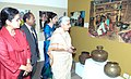 The Union Minister for Culture, Smt. Chandresh Kumari Katoch going round an exhibition on the occasion of International Women's Day celebrations, in New Delhi on March 08, 2013.jpg
