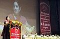 The Union Minister for Human Resource Development and Chairperson, KVS, Smt. Smriti Irani addressing at the launch of KV SHAALA DARPAN for Kendriya Vidyalaya.jpg