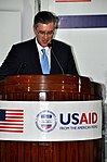 The United States Ambassador to Pakistan, Richard Olson broke ground for a U.S. funded construction of a new Faculty of Education building in Muzaffarabad, AJK. 10 (13805058835).jpg