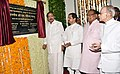 The Vice President, Shri M. Venkaiah Naidu unveiling the plaque to inaugurate the Dr. Girendra Pal Homeopathy College and Research Centre at Homeopathy University, in Jaipur, Rajasthan.JPG