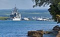 The guided missile cruiser USS Lake Erie (CG 70) returns to its home port March 29, 2013, at Joint Base Pearl Harbor-Hickam, Hawaii 130329-N-WF272-119.jpg