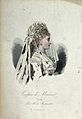 The head and shoulders of a woman in profile to the right we Wellcome V0019895EL.jpg