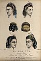 The heads of four women with ringletted hair dressed with ri Wellcome V0019880ER.jpg