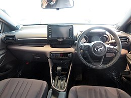 The interior of Toyota YARIS G 4WD (5BA-MXPA10-AHFGB) with GR PARTS.jpg