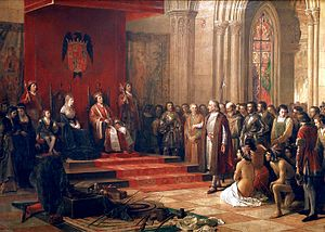 Spanish Empire - The return of Columbus, 1493.