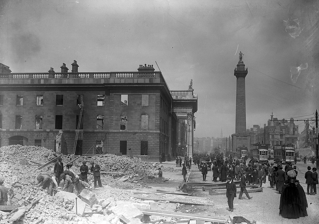 The shell of the G.P.O. on Sackville Street after the Easter Rising (6937669789)