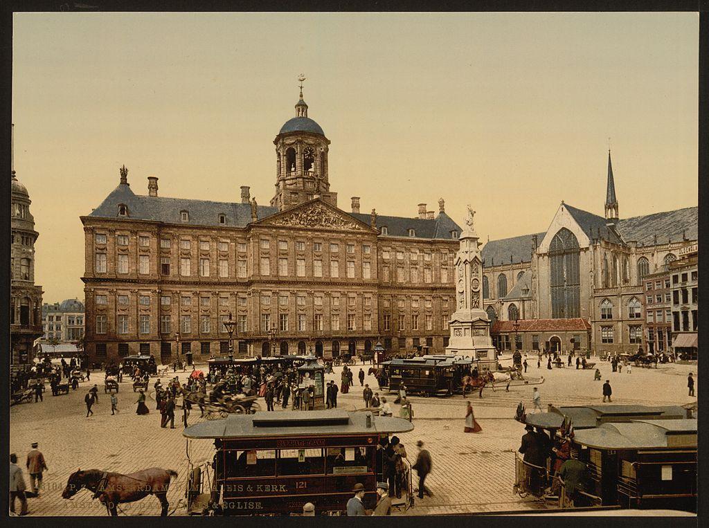 Place de Dam à Amsterdam en 1900